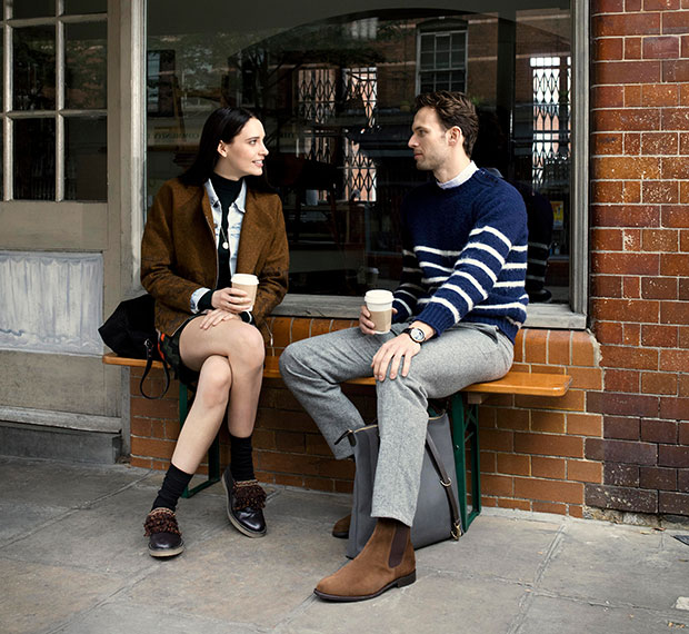 Fashion lifestyle film of a couple enjoying coffee